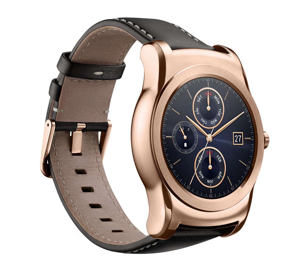 lg urbane steel classic smart watch gold