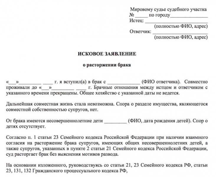 dokumenty dlja razvoda bez soglasija odnogo iz suprugov d367cf0