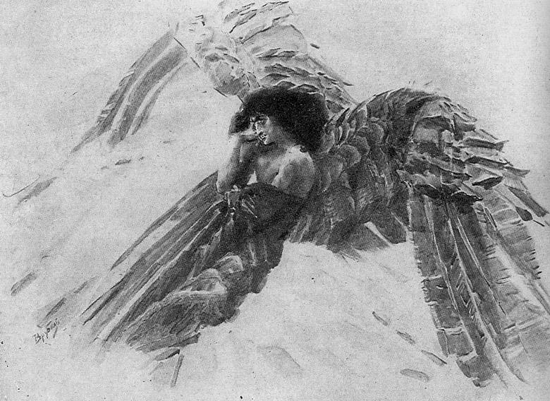 illjustracii k poeme demon lermontova risunki kartinki 2f95576
