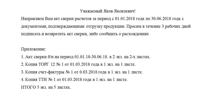 obrazec soprovoditelnogo pisma k aktu sverki 2018 goda 0dc09ce