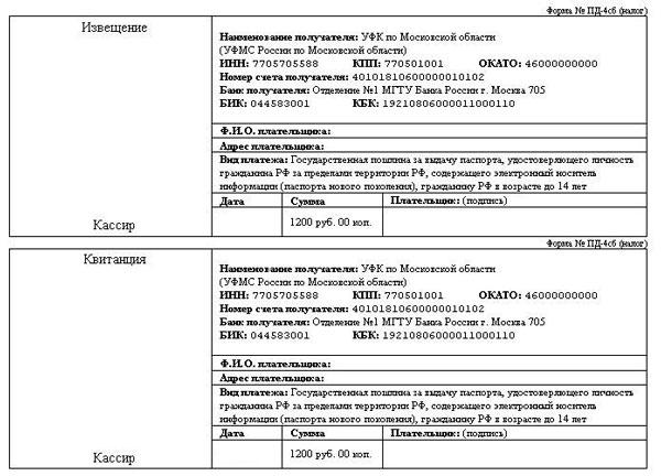 skolko stoit zamena pasporta 19b1226
